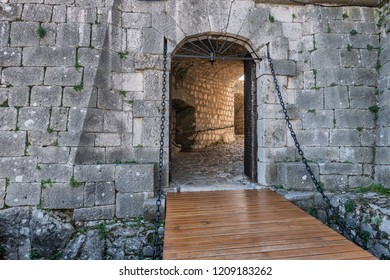 Gate to Knin fortress in Dalmatia in Croatia