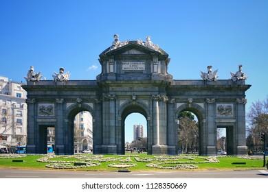 Alcalá Gate in Madrid, Spain