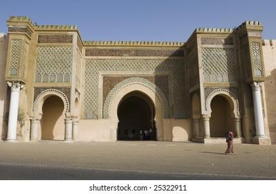 Gate in Meknes, Morocco