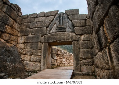 Gate in Mycene, Peloponnese, Greece