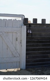 Gate to the nudist beach