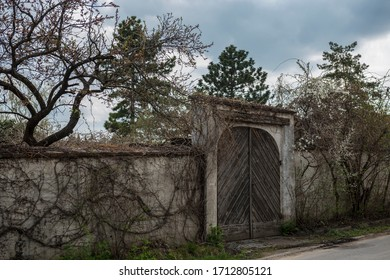 gate of an old cemetery