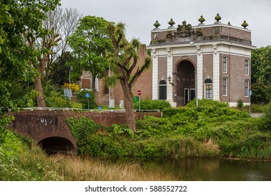 Gate of the old fortifications in Middelburg, Netherlands