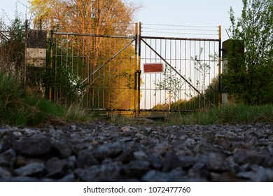 Gate on abandoned railway in Maisach, Bavaria