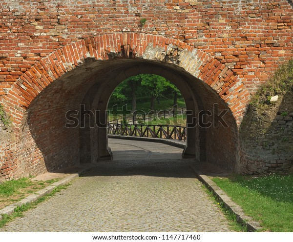 Gate on Petrovaradin fortress in Novi Sad, Serbia