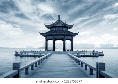 The Gate of the Orient by the Jinji Lake in Suzhou,China.