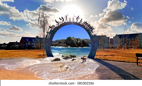 Gate in parallel world, imagination