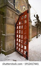 Gate of the park of the martini kerkhof in groningen called prinsentuin