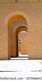 Gate of partially restored Babylon ruins at Hillah, Iraq