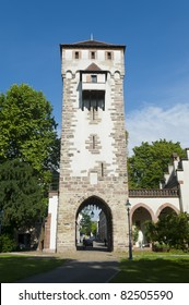 Gate of Saint Alban in Basel, Switzerland. One of the three significant old gates in the city.