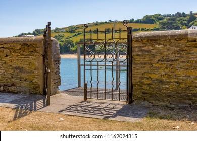 Gate to sea in Salcombe UK