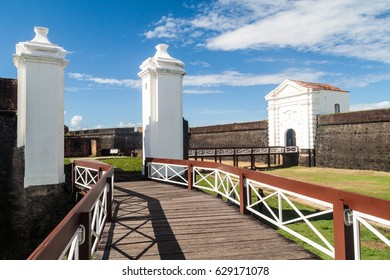 Gate of St. Joseph (Sao Jose) fortress in Macapa, Brazil