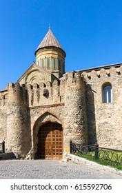 Gate to the Svetitskhoveli Cathedral 11th century in Mtskheta, Georgia