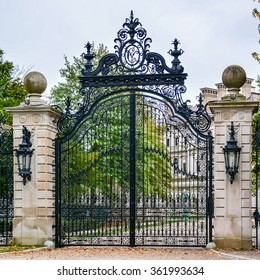 Gate to 'The Breakers', a Vanderbilt Mansion, a National Historic Landmark - Newport, Rhode Island