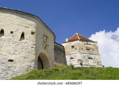 Gate tower of medieval fortress of Rasnov in Transylvania.