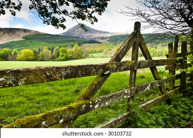 Gate with view to Goatfell on the Isle of Arren