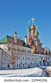 Gate-Church of the Intercession. Novodevichy Convent is probably the best-known cloister of Moscow.