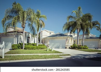 Gated community houses in South Florida