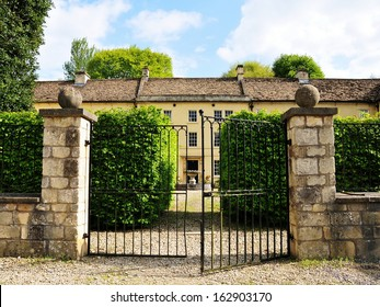 Gated Entrance of a Beautiful Victorian Era English Country House
