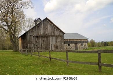 """Gated"" -- A rustic historic barn - Sleeping Bear Dunes National Lake Shore, Port Oneida, Michigan, USA."