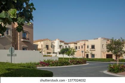 Gated villa compound luxury housing development