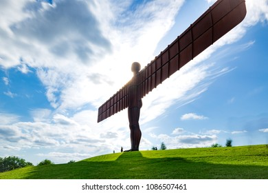 GATEHEAD, UK - JULY 16, 2017, The Angel of the North, Gateshead. A steel sculpture by Antony Gormley,