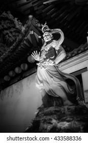 Gatekeeper statue at Buddha Tooth Relic Temple Chinatown Singapore, Graven image, Idol