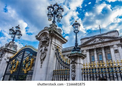 Gates of of Buckingham Palace. London, England.