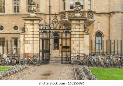 The gates of Clare College Cambridge