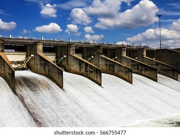 gates at a dam
