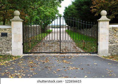 Gates and Drive of a Country Estate