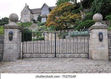 Gates and Driveway of a Country House