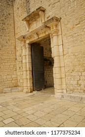 Gates of the old city walls of Trogir, Croatia