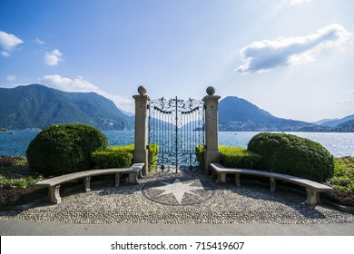 Gates on Lake Lugano - Lugano, Switzerland - September 2017
