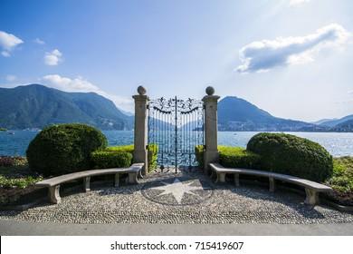 Gates on Lake Lugano - Lugano, Switzerland - September 2017