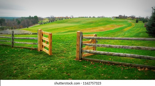 Gates to Peace and Love / The gates to the field where the Woodstock Music Festival occurred in 1969