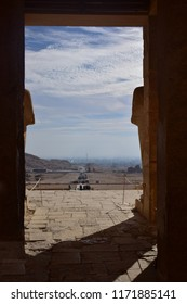 The Gates of The Pharaonic Temple from inside