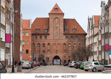 Gates Zuraw in Gdansk. Poland. View from the oldtown.