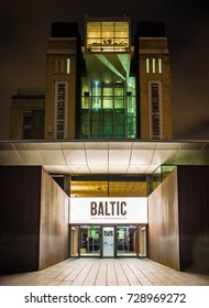 Gateshead -UK 05/10/2017 The Baltic Centre for Contemporary Arts at Night.
