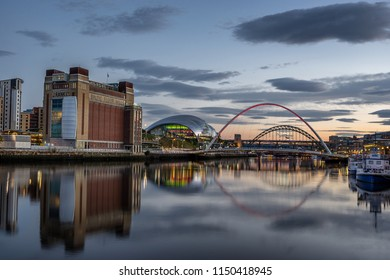 Gateshead,England on 31st July 2018: Baltic Centre for Contemporary Art is a historic building for art located on the south bank of the River Tyne and next to  the Gateshead Millennium Bridge