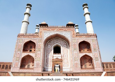 Gateway to Akbar's Tomb at Sikandra, Agra. It was built during 1605-13.