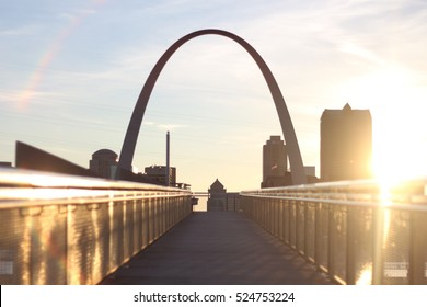Gateway Arch at Golden Hour