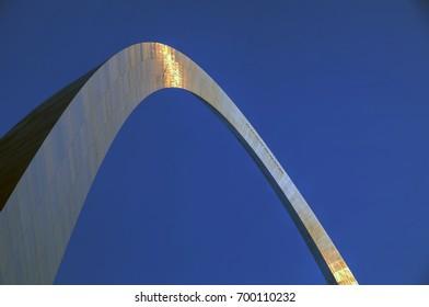 The Gateway Arch in St. Louis, Missouri.