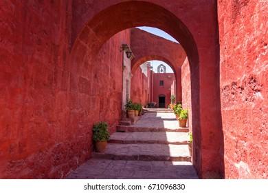 Gateway to Heaven   Sevilla street, inside the Santa Catalina monastery of Arequipa, Peru.