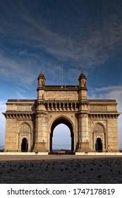 Gateway of India, Mumbai, Maharashtra, India. One of the most important landmark of Mumbai. Photo is shot during lockdown due to Pandemic Covid 19