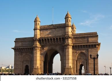 Gateway to India at Sunset, Mumbai, India.