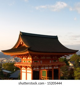 Gateway of Kiyomizu Temple in Kyoto Japan