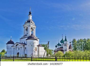 Gateway sacred Nikolay church in monastery of St Avraam in Rosrov, Russia