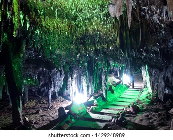 Gateway to underworld in Tham Khao Bin cave, Ratchaburi, Thailand