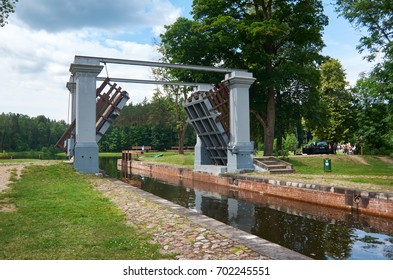 Gateways sluice (locks) on the Augustow Canal July 8, 201